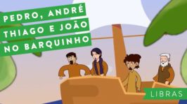 Pedro, André, Thiago e João no barquinho – LIBRAS