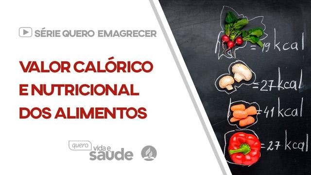 Valor calórico e nutricional dos alimentos