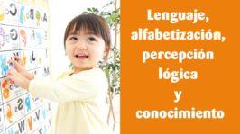 Lenguaje, alfabetización, percepción lógica y conocimiento