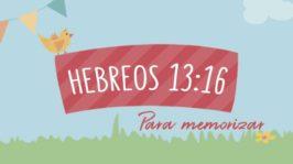 Hebreos 13:16