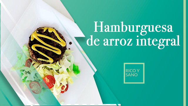 Hamburguesa de arroz integral