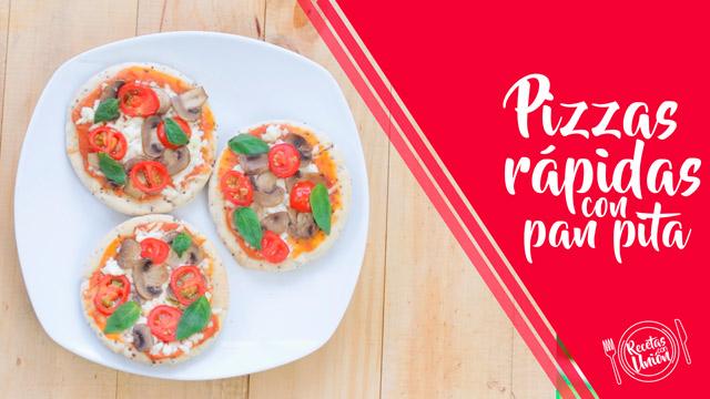 Pizzas rápidas con pan pita