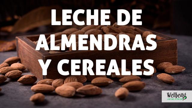 Leche de almendras y cereales