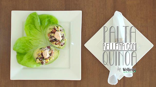 Paltas rellenas con quinoa