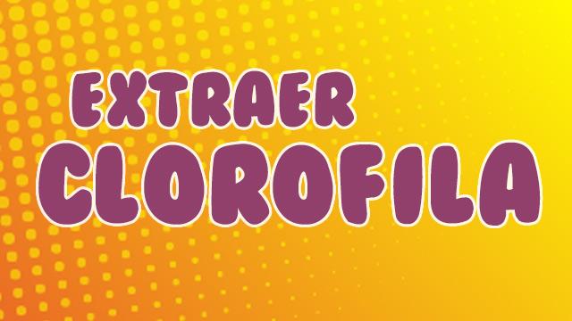 ¿Cómo extraer la clorofila?