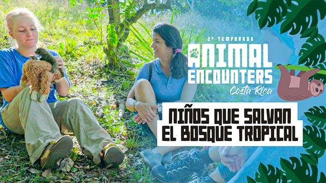Niños que salvan el bosque tropical