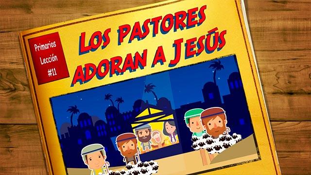 Los pastores adoran a Jesús