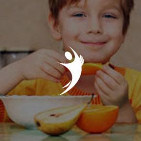 Filhos bem alimentados e saudáveis
