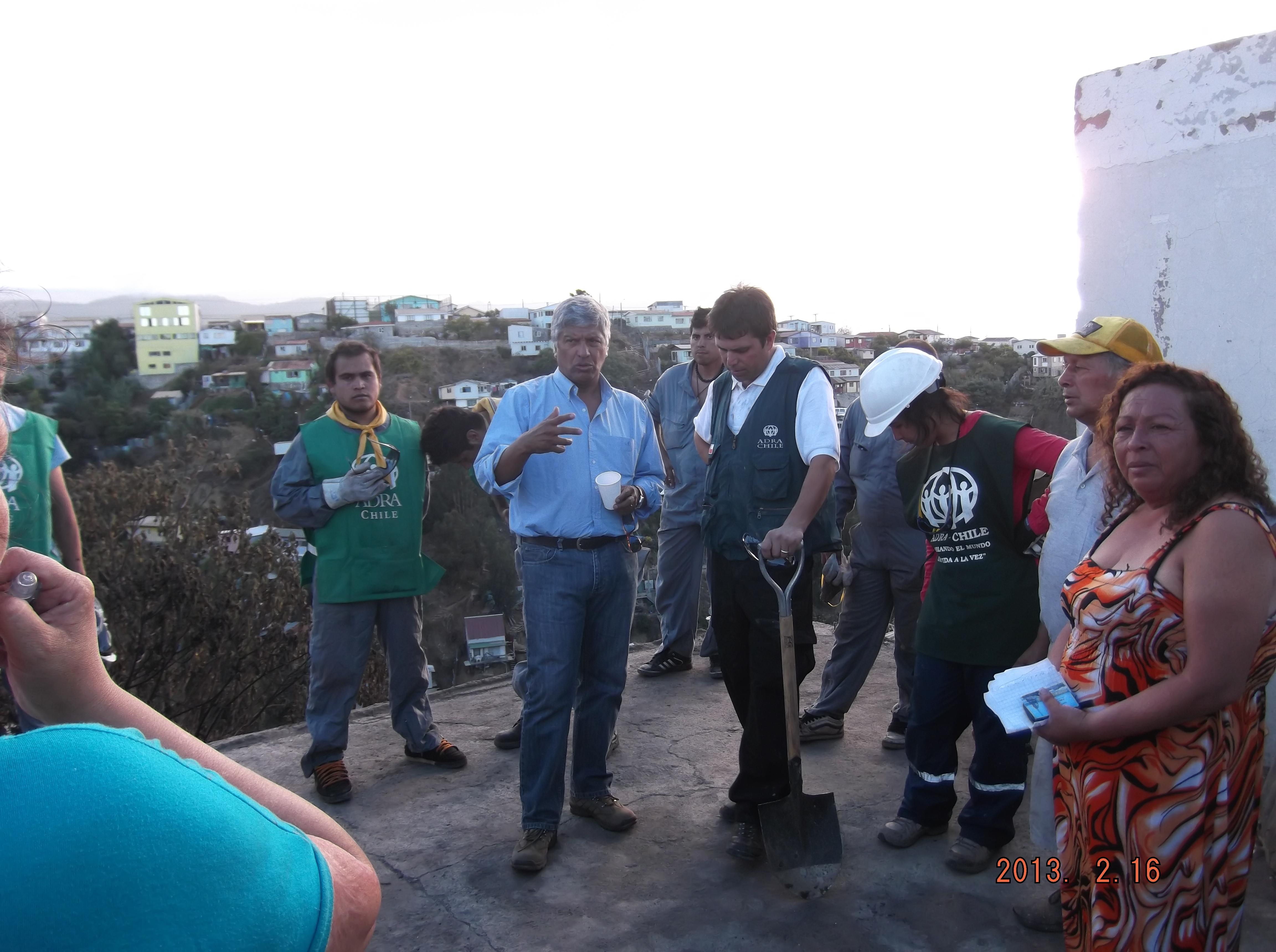 Voluntarios de ADRA Chile, coordinando la ayuda a la zonas afectadas