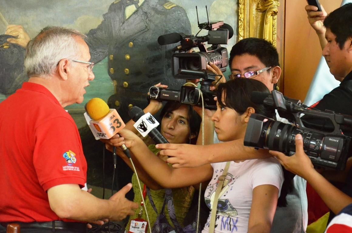 Presidente de la Iglesia en el norte de Perú, Pastor Orlando Ramos, declara a los medios sobre Misión Caleb