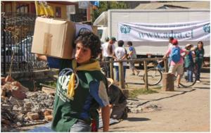 Personal de ADRA Chile, en acción, a favor de las familias de Petorca