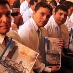 Pastores que participaron de la capacitación satelital, en Lima, Perú.