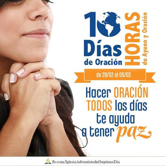 Banner de promoción del proyecto de oración.