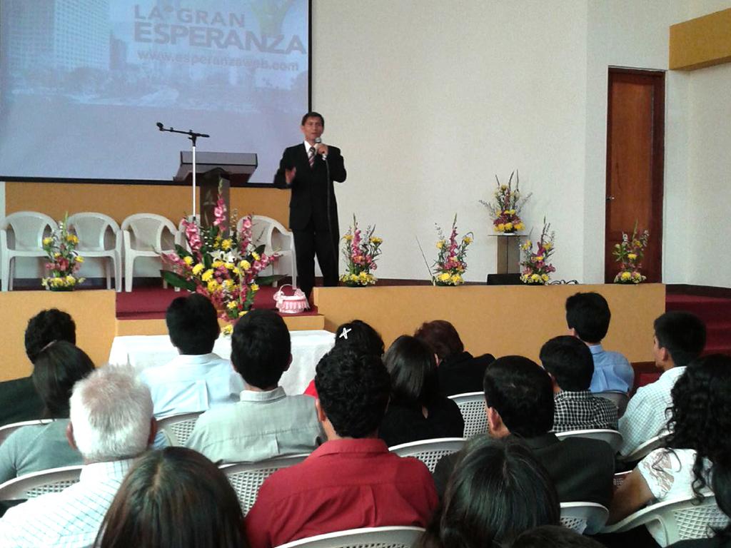 Capacitación de dirigentes de iglesia 2014 en Trujillo