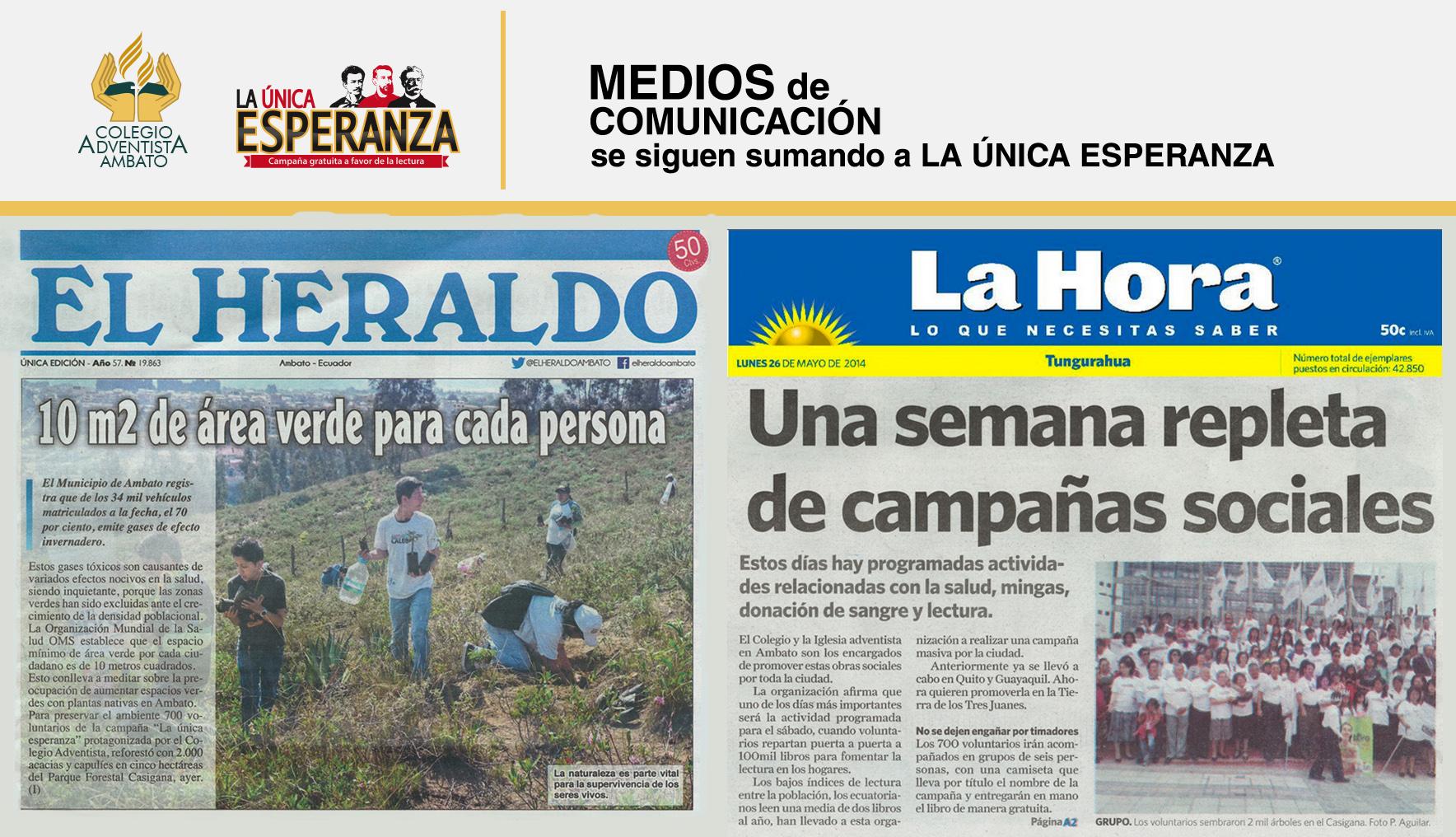 """Principales diarios de Ambato hacen eco de """"La Única ..."""