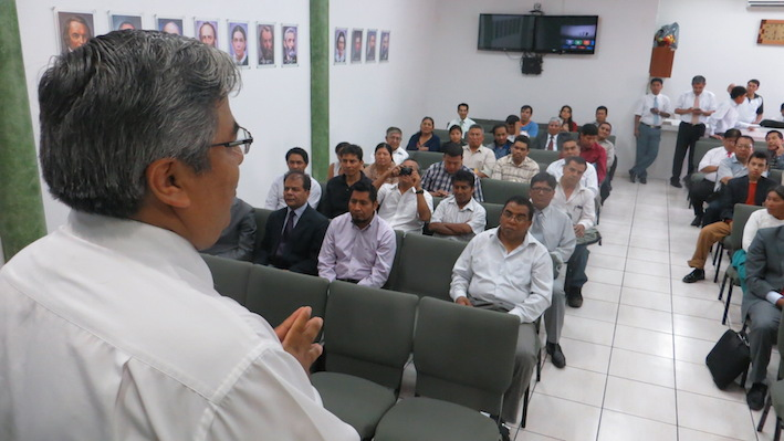 Pastor en la Campaña de Evangelismo