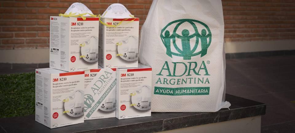ADRA ARgentina envía barbijos a Chubut