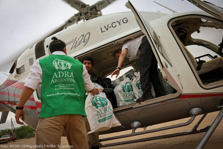 ADRA asiste vía aérea a inundados