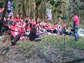 Al cierre del proyecto, los Calebs participaron de una Santa Cena en medio a la naturaleza.