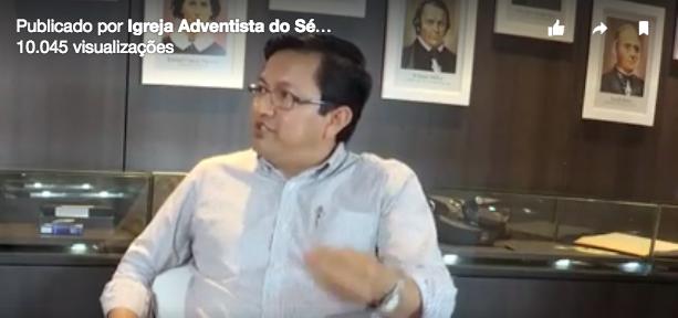 Suárez apresentou conceito bíblico do sábado e fez alusão à forma como o dia pode ser observado. Foto: Reprodução do Facebook da Igreja Adventista