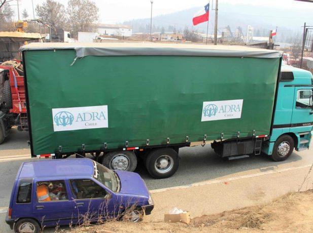 ADRA Chile ya ha enviado ayuda a los damnificados por los incendios en el país.