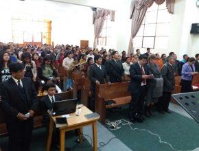 Iglesia de Los Andes participando de la capacitación satelital