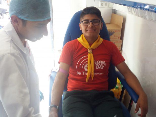 Donación de sangre en la ciudad de Cochabamba - Bolivia