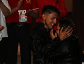 Jhon y su esposa Ivana durante su bautismo en el I Encuentro de Coordinadores de GP
