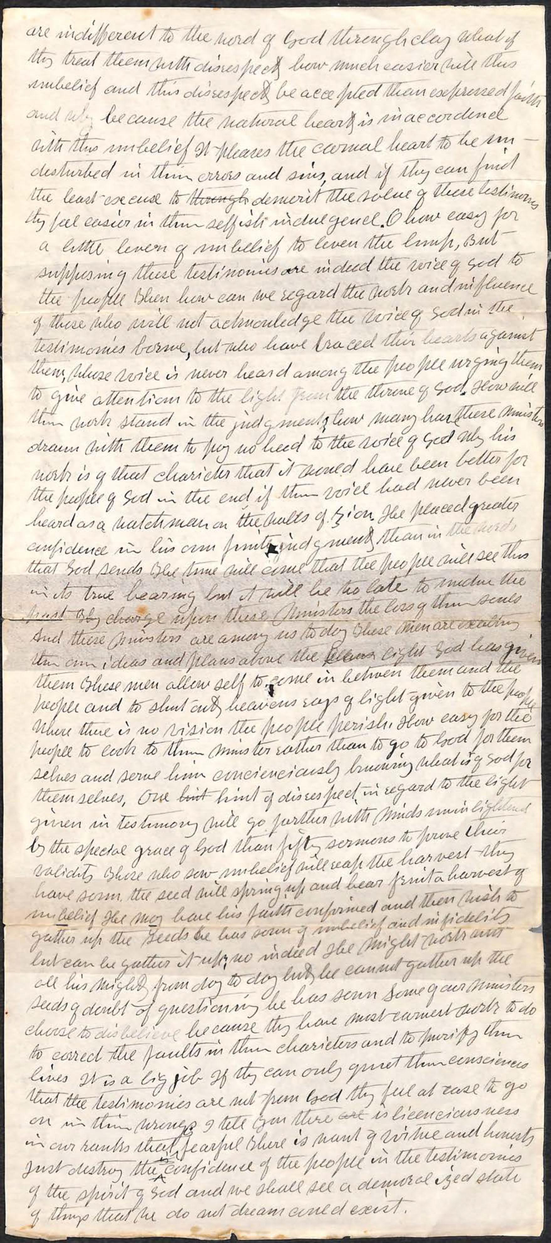 Segunda parte de la correspondencia de Elena de White. Haga clic para ampliar.