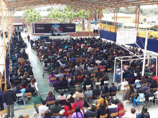 Más de 380 personas se reunían en dependencias del Colegio Adventista de Arica