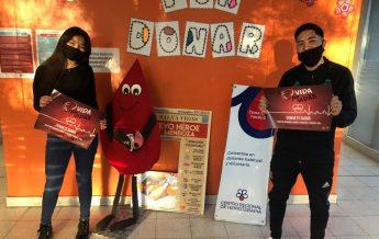 Decenas de jóvenes donan sangre en Cuyo