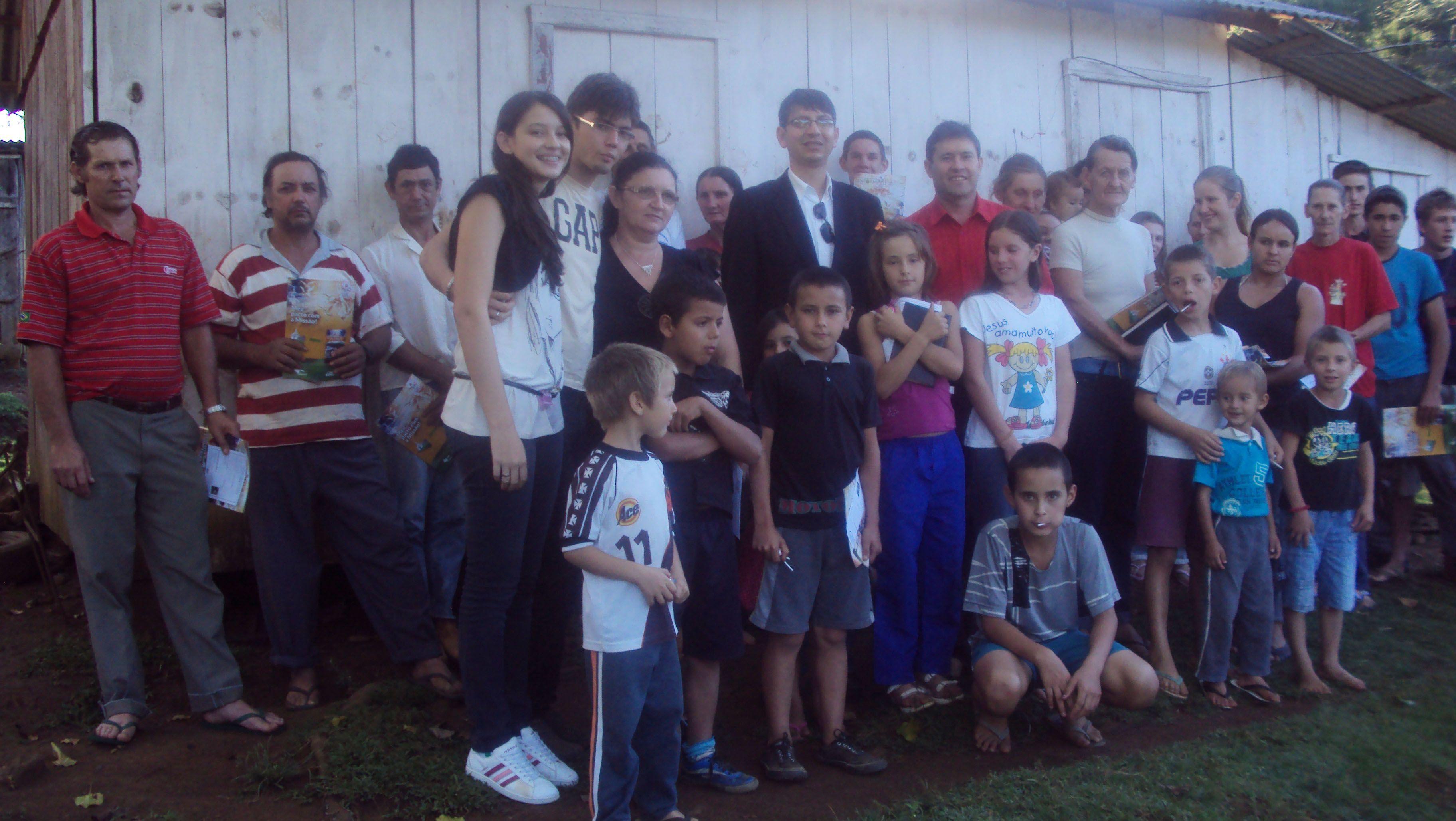 Antônio Lourenço levou a mensagem para amigos e familiares.
