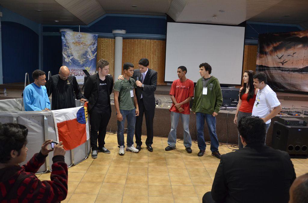 Incentivo à comunhão foi uma das ênfases do evento com os jovens