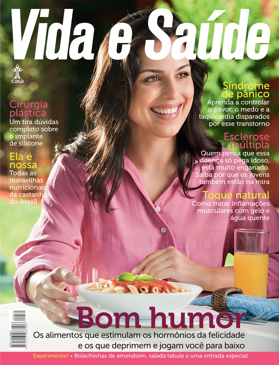 Capa da revista de abril