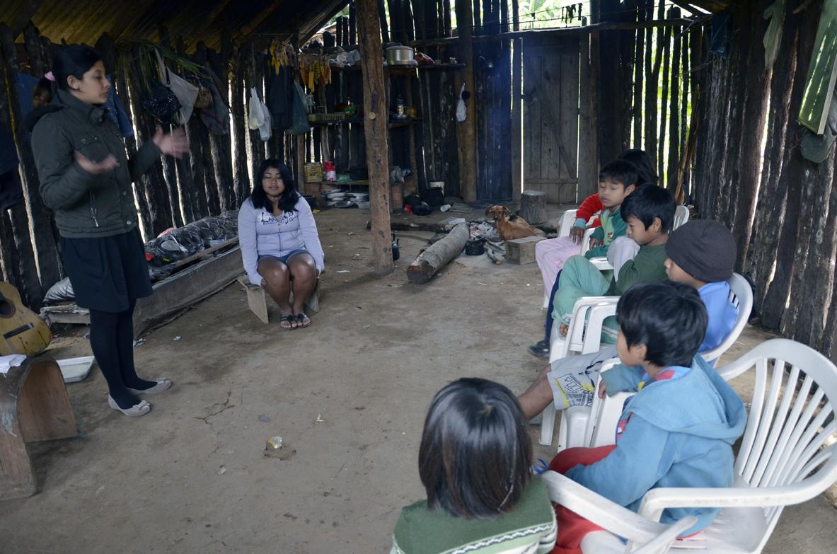Tribo recebeu a primeira lição de Escola Sabatina.