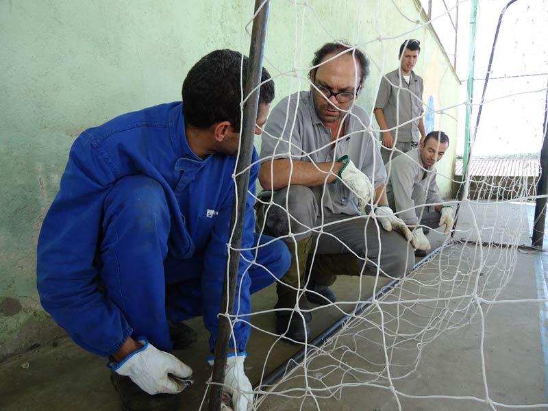 Voluntários fizeram diversos trabalhos para melhorar ainda mais a segurança do núcleo.
