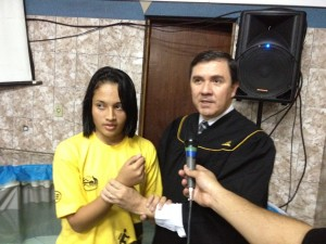 Batismos marcaram a atividade dos jovens