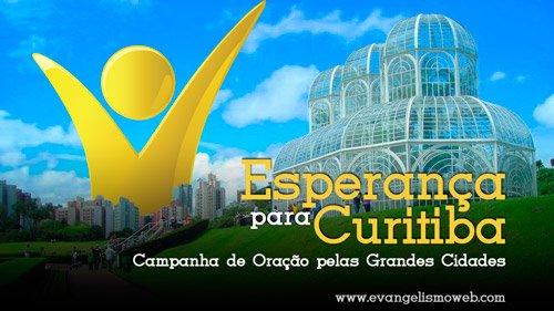 Capital do Paraná, com 1 milhão e 700 mil habitantes, é motivo de oração nessa smana