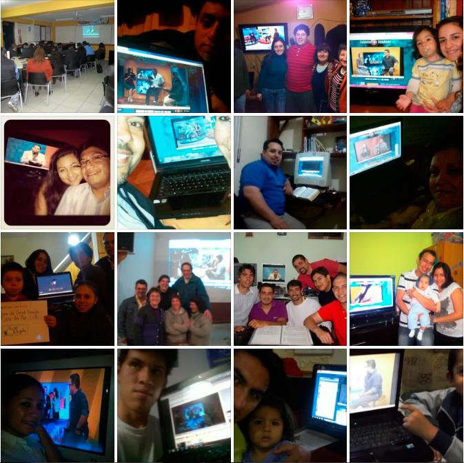 Moisaco com as fotos do internautas acompanhando o programa.
