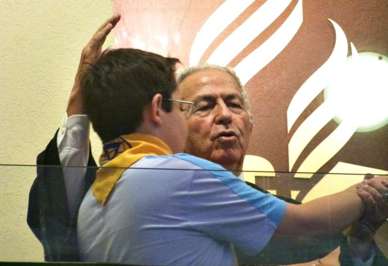 Kelvin Zeferino, aluno do 9º ano, foi batizado pelo avô, pastor Nelson de Souza. Foto: Aquivo CAJE