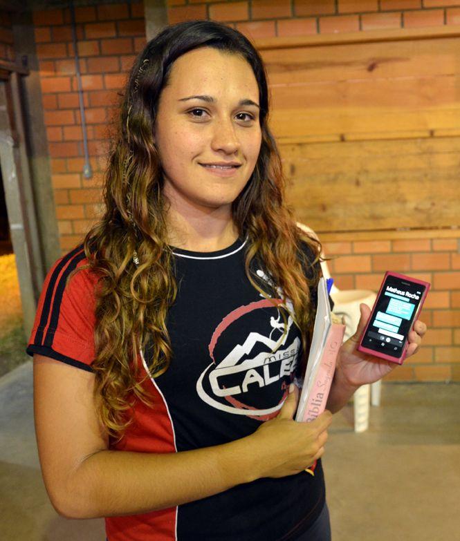 Jamile Silveira enviou curso bíblico por mensagens de texto.