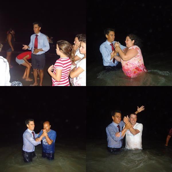 Interessados pelo batismo já haviam recebido estudos bíblicos e frequentavam Pequenos Grupos.