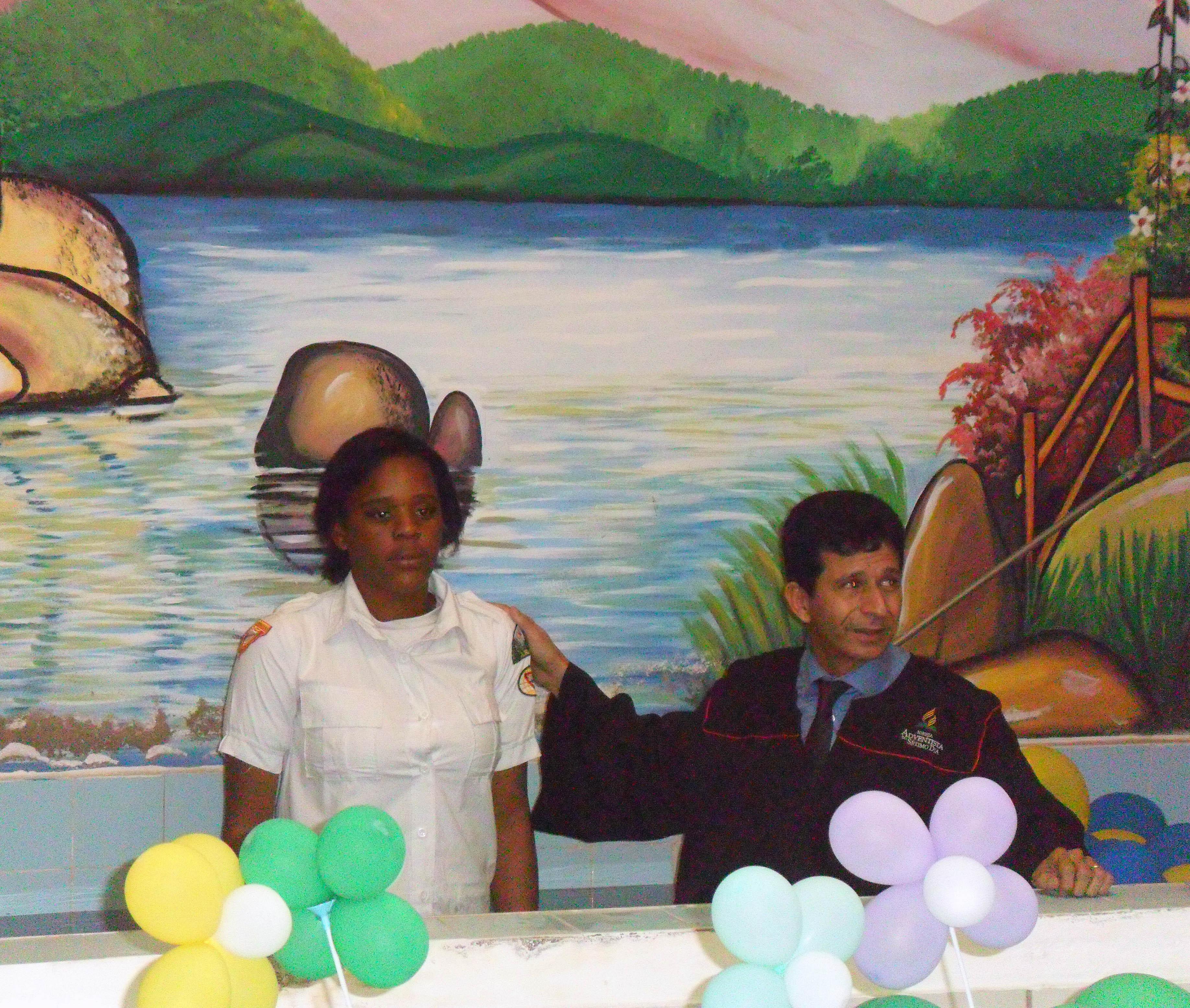 Batismo desbravadora Joice