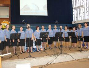 O grupo Anunciarte da igreja local teve a sua participação no evento.