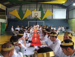 Momento especial da Santa Ceia realizada na ocasião dos treinamentos no mês de junho.