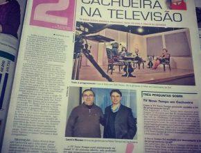 Matéria destacou o o novo jornal e também o portal de notícias da TV Novo Tempo para a região.