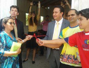 Inauguração da Igreja Adventista na comunidade do Pau Rosa.