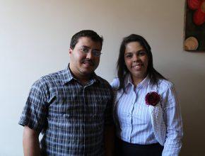 Andreia Luna líder do Ministério da Mulher para a região fechou parceria para o Quebrando o Silêncio com Lucas Pereira, presidente do Conselho Tutelar
