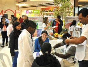 No shopping a média era de 50 atendimentos por hora. A feira foi uma ação inovadora no shopping.