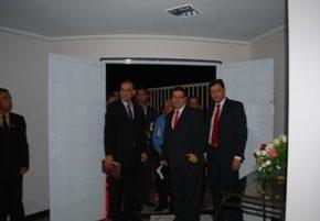 Administradores da ASES na inauguração da igreja de Vila Isabel.